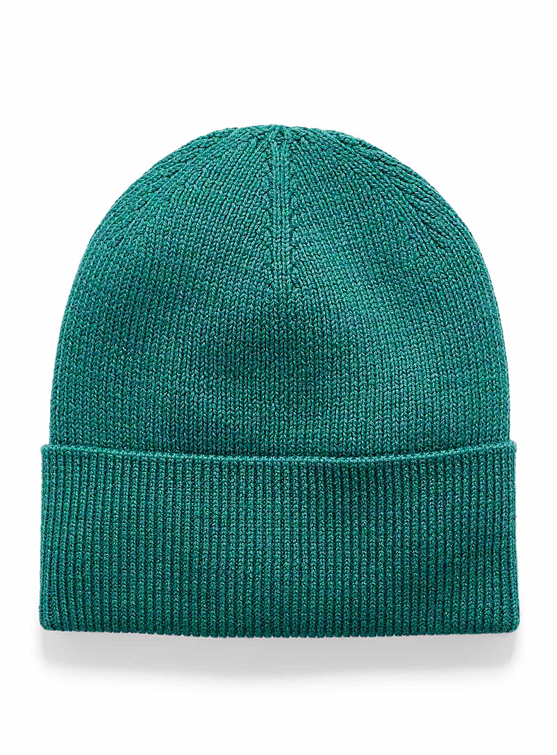 Simons Kelly Green Eco-friendly merino wool tuque for women