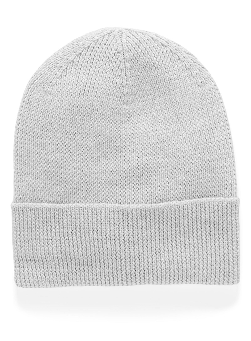 Simons Light Grey Responsible merino wool tuque for women