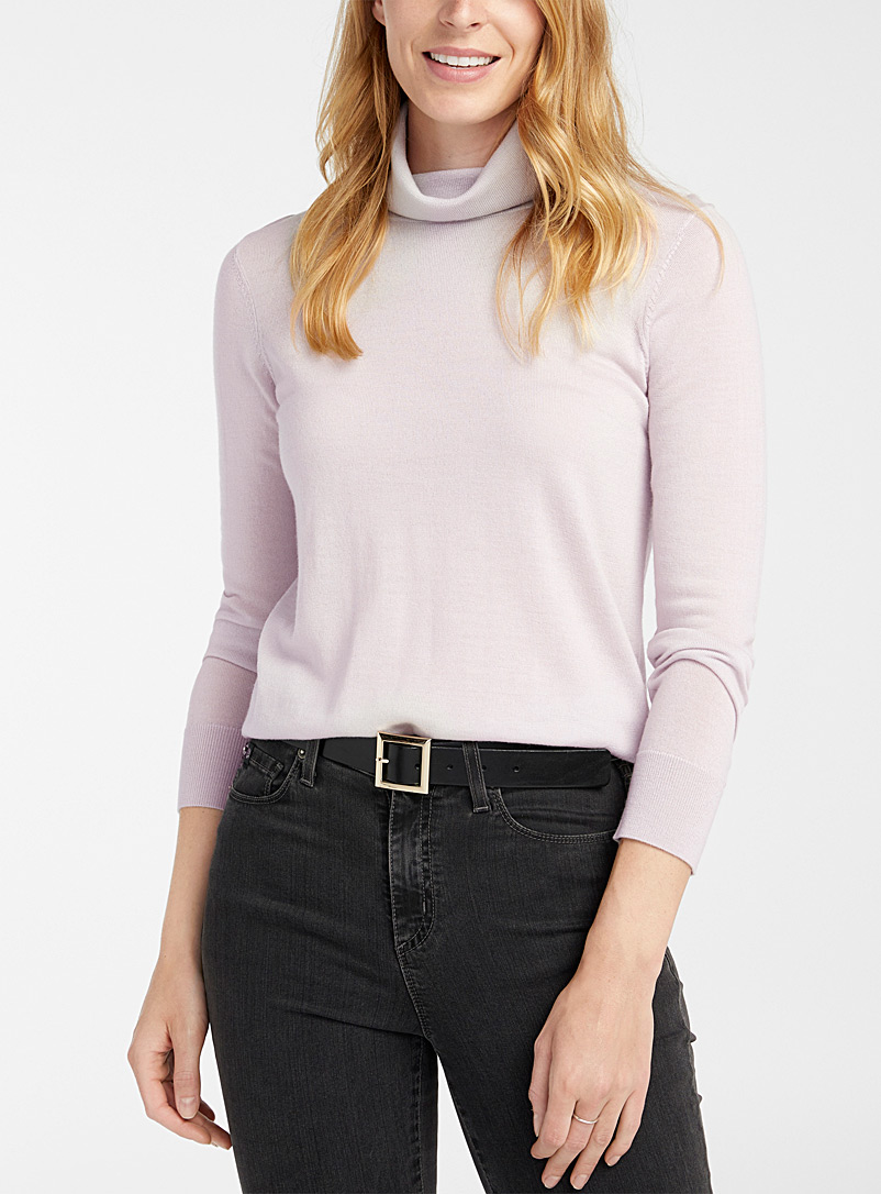 Contemporaine Sand Responsible merino turtleneck for women