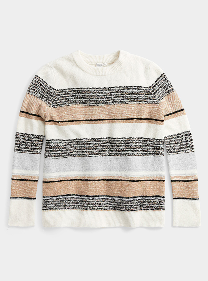 Twik Ivory White Vintage stripe sweater for women