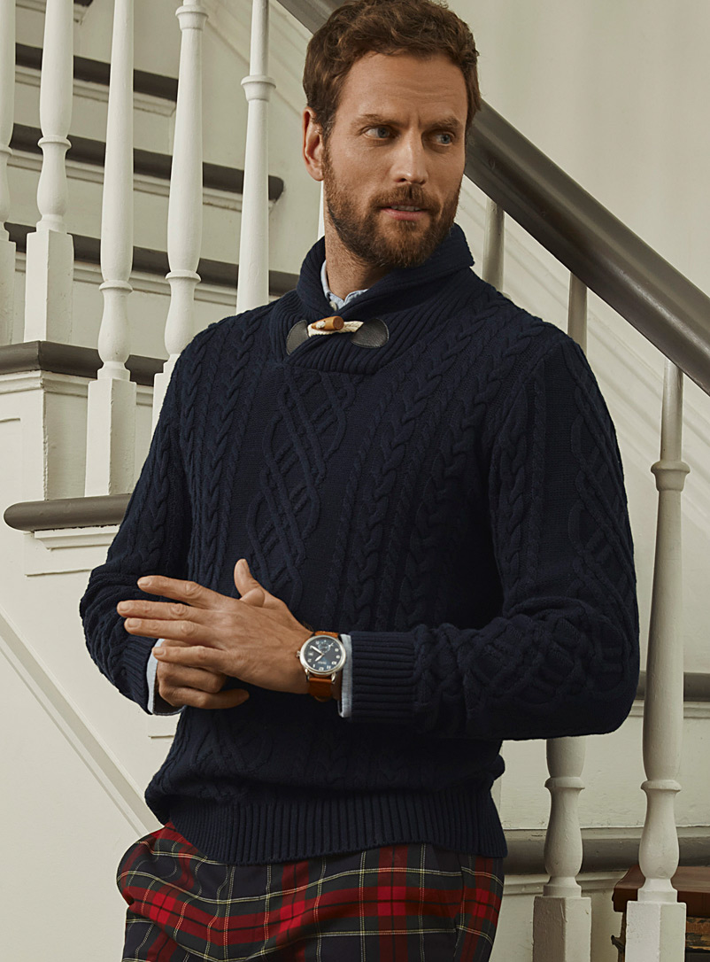 Nautical cable-knit organic cotton sweater