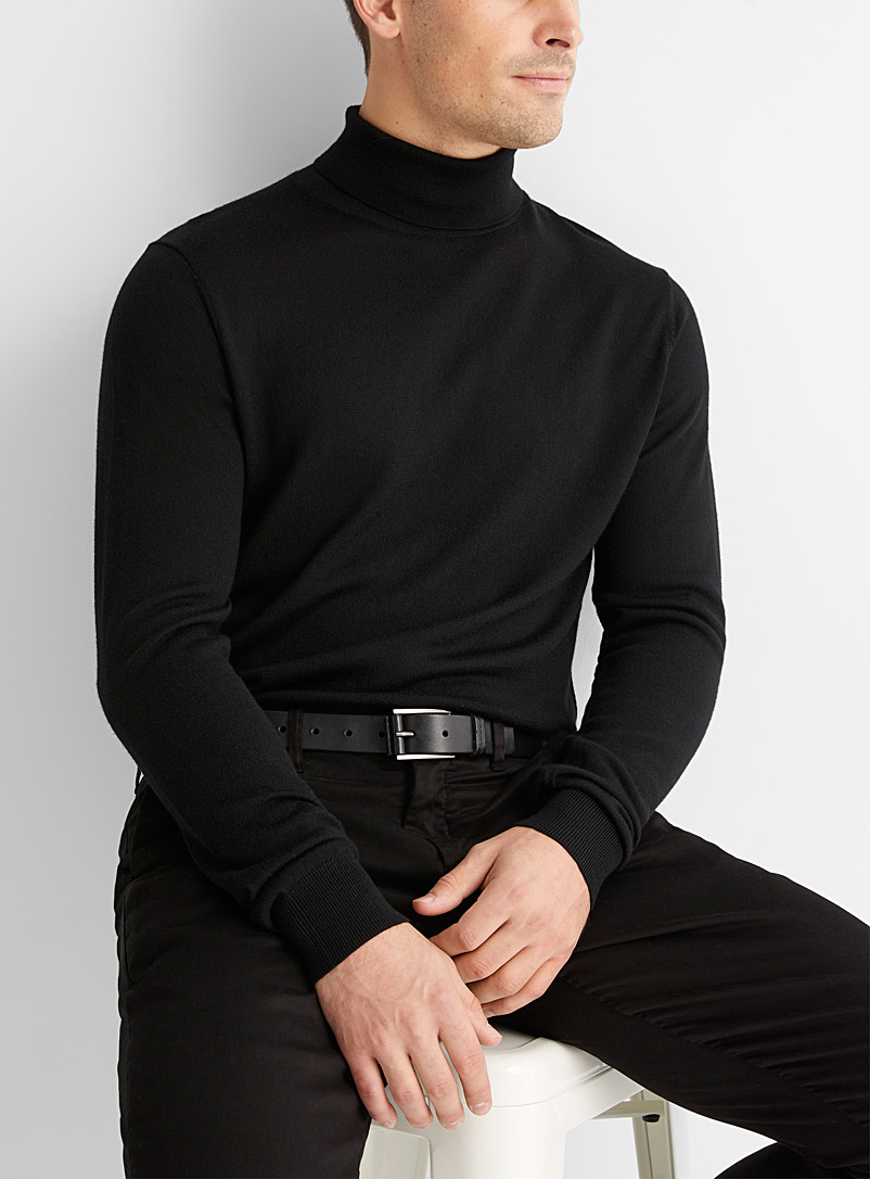 Pure merino wool turtleneck