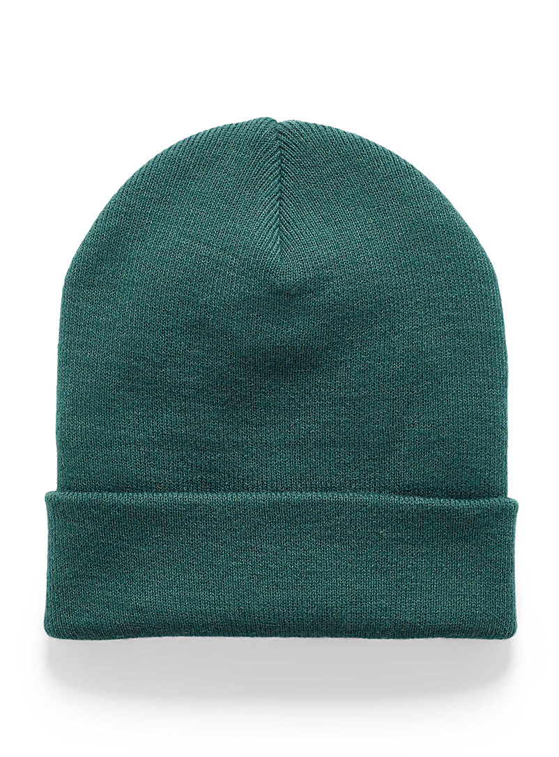 Wide cuff tuque