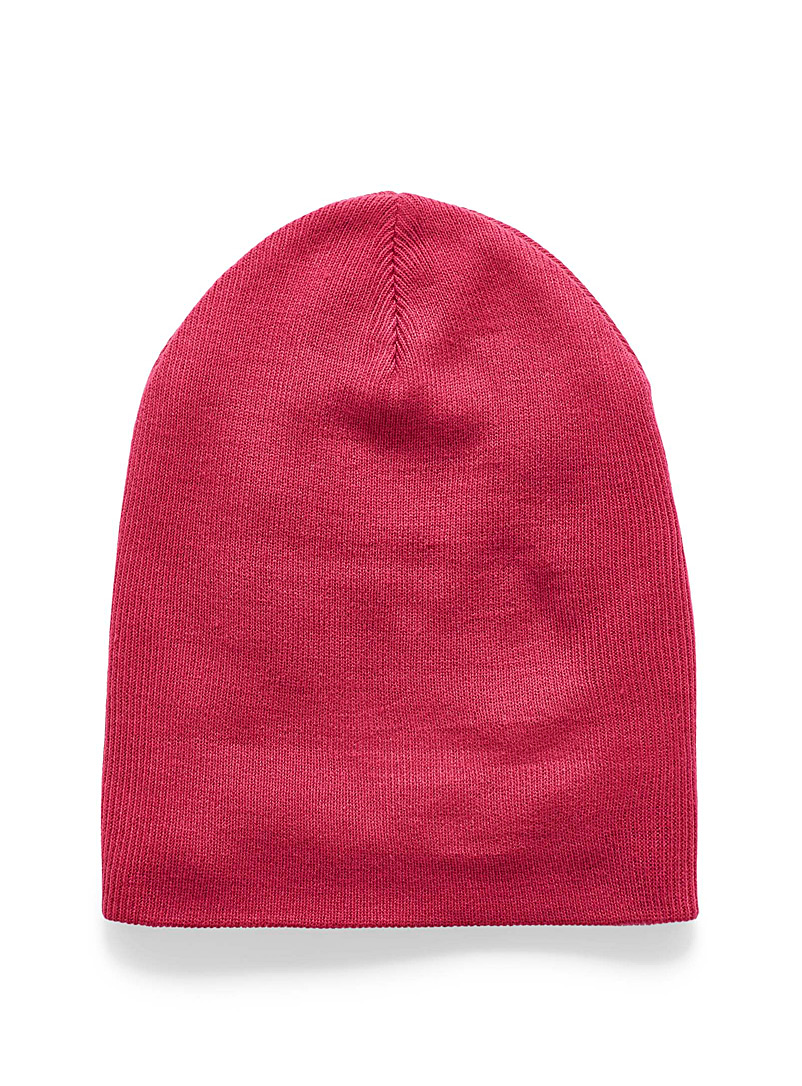 Simons Dusky Pink Wide cuff tuque for women
