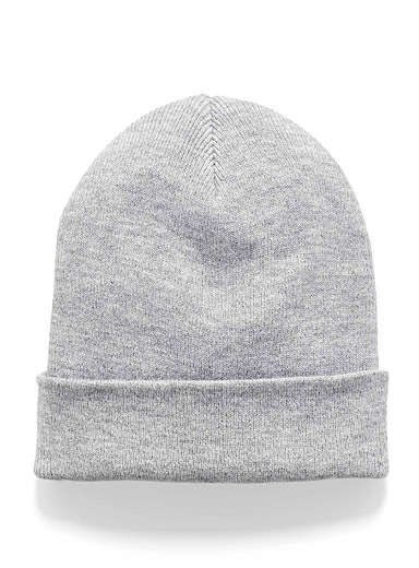 Simons Grey  Wide cuff tuque for women
