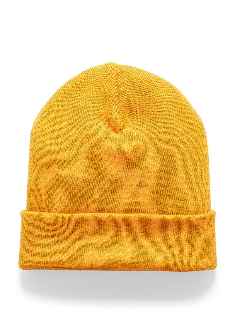 Simons Yellow Wide cuff tuque for women