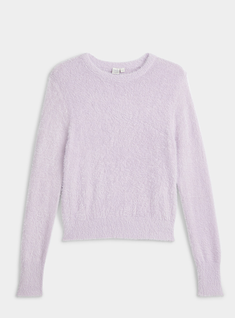 Twik Lilacs Basic chenille sweater for women