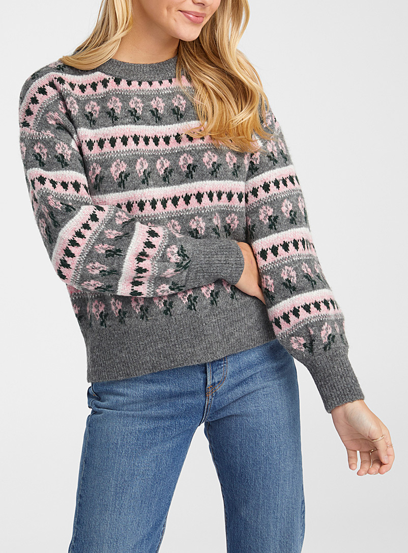 Twik Oxford Floral jacquard sweater for women