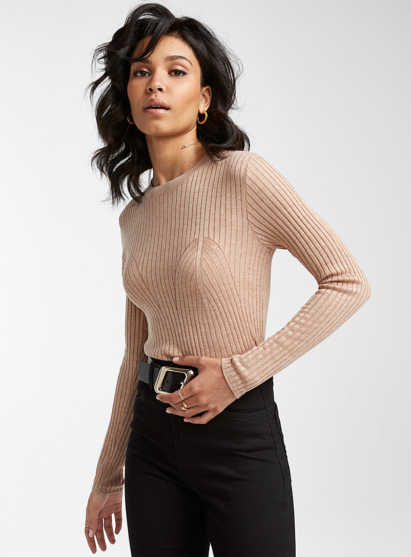 Icône Honey Touch of cashmere bustier sweater for women