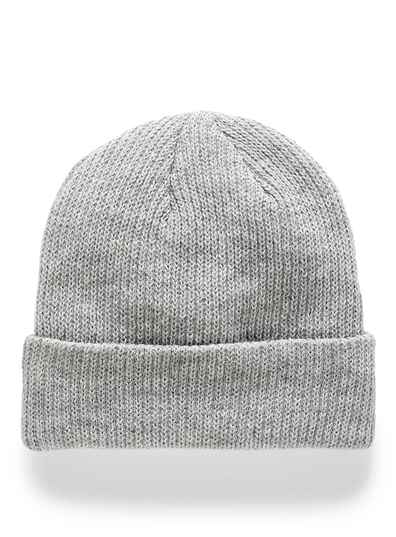 Simons Silver Soft rib-knit tuque for women