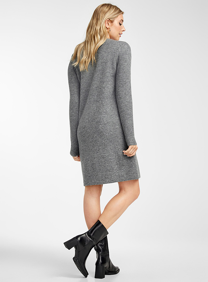 Icône Oxford Brushed-knit sweater dress for women