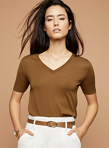 Ultra-thin short-sleeve sweater