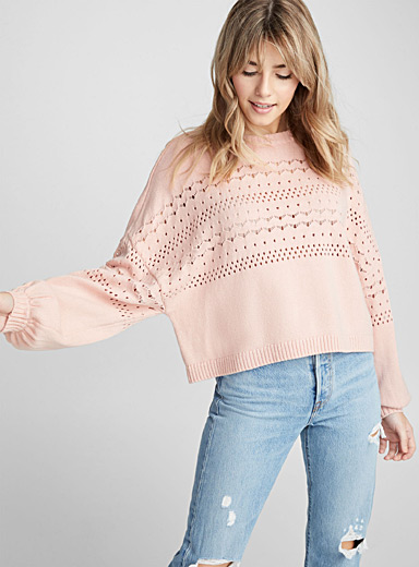 Le pull fanion pointelle