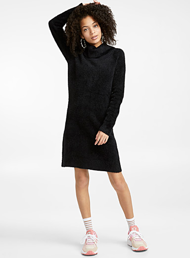 Chenille turtleneck dress
