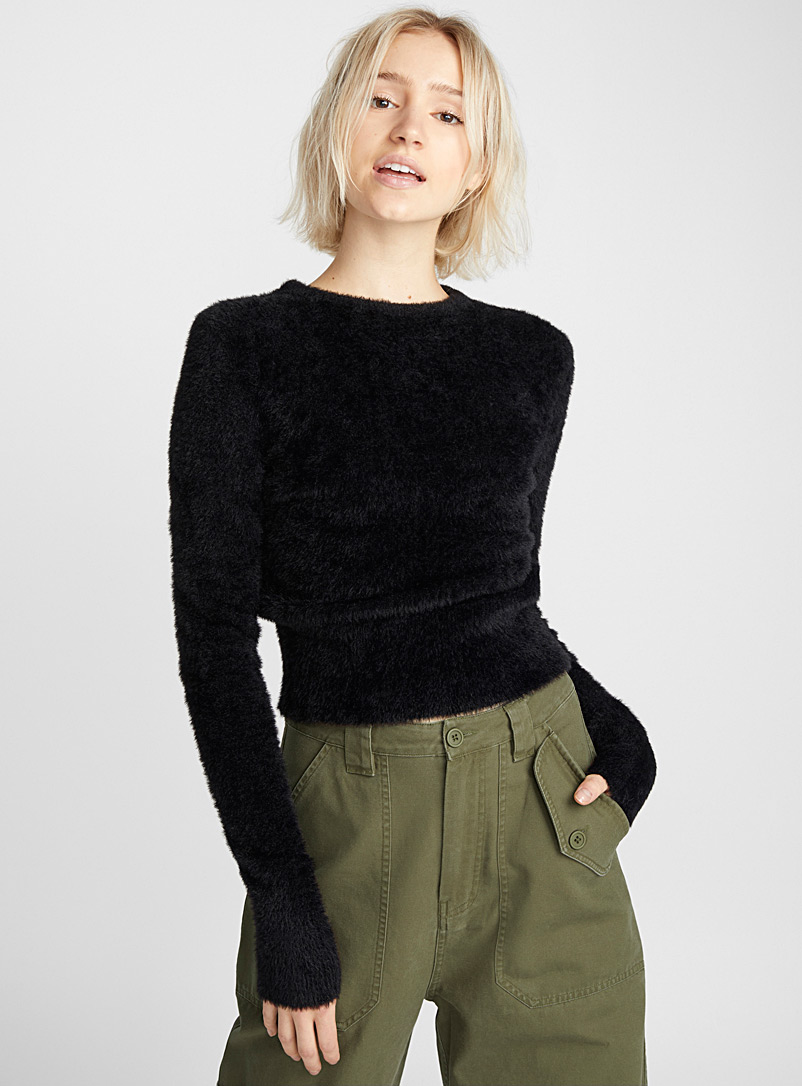 cropped-fuzzy-knit-sweater