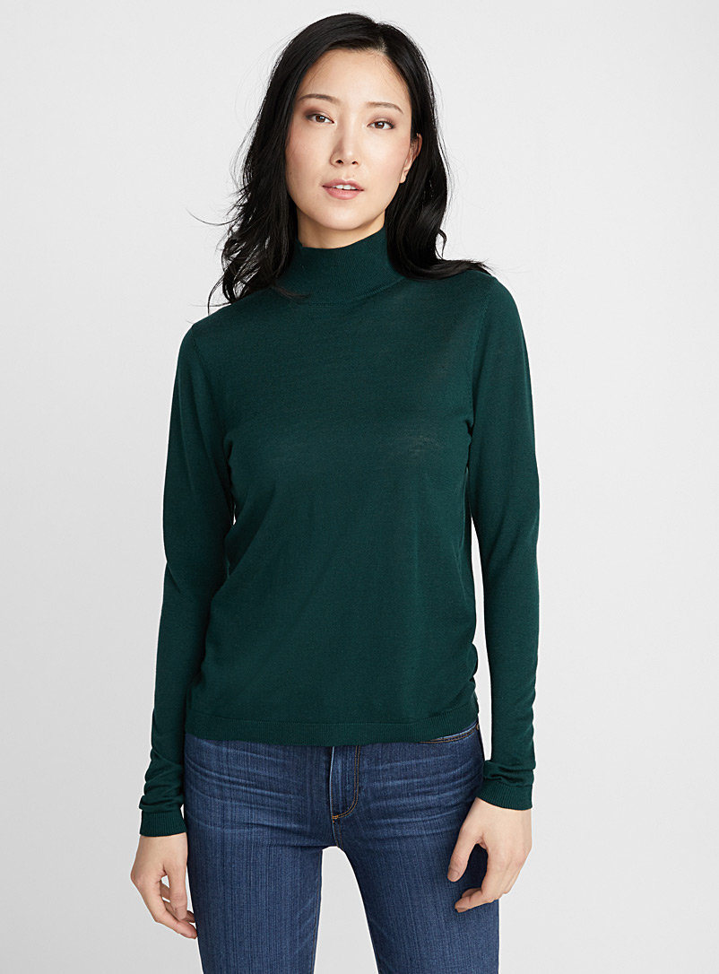 Essential mock-neck sweater - Sweaters - Kelly Green