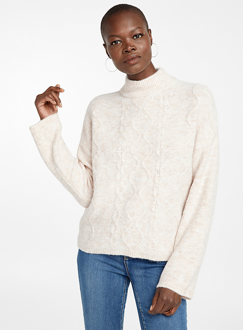 cable-texture-mock-neck-sweater