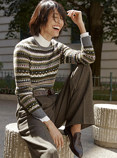 Le pull rayures jacquard