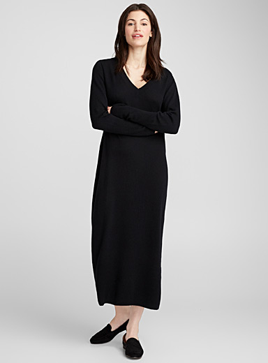 Minimalist wool and cashmere sweater dress