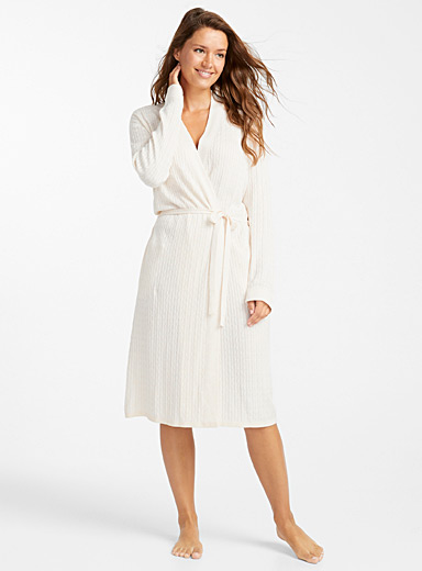 Cashmere-touch robe