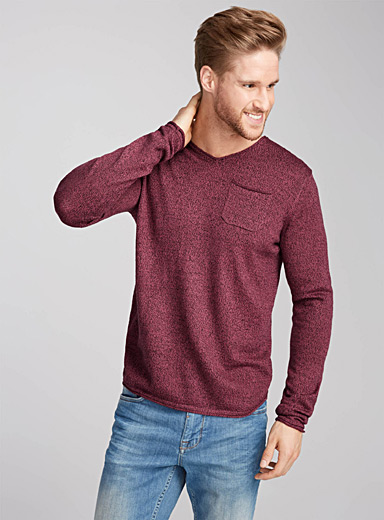 Rolled heather sweater