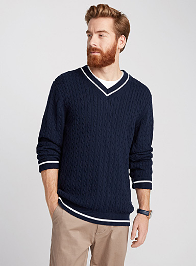 Tennis cable sweater