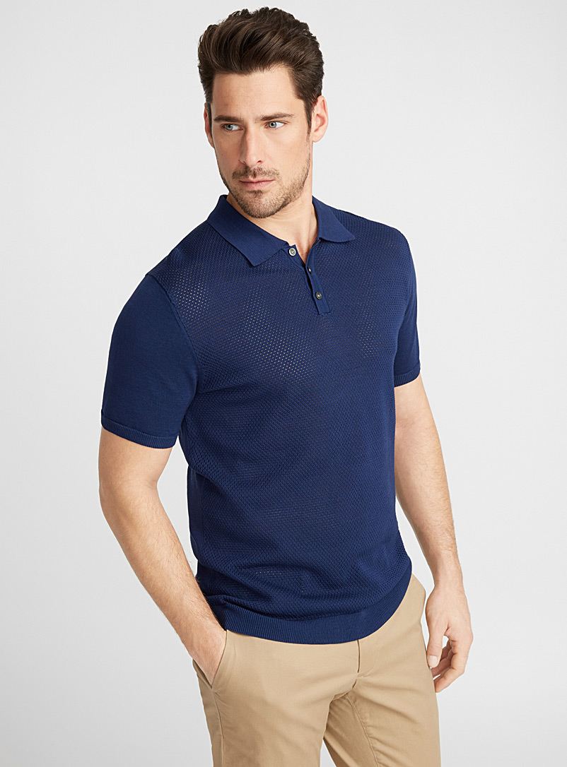 openwork-knit-polo