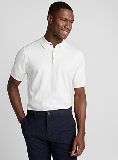 Silky knit polo
