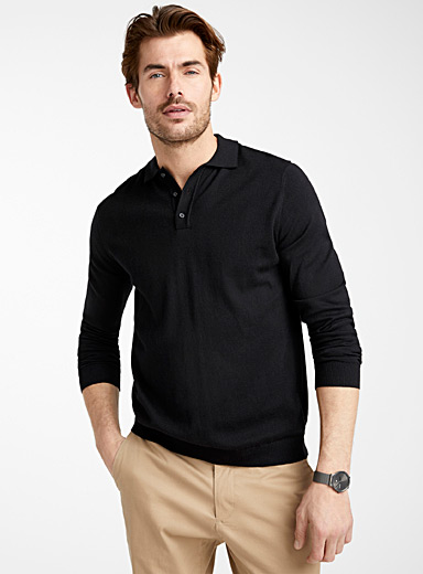 TENCEL* modal polo sweater