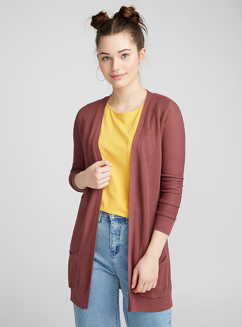 Le cardigan maille duo - Cardigans - Cuivre rouille
