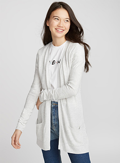 Le cardigan maille duo