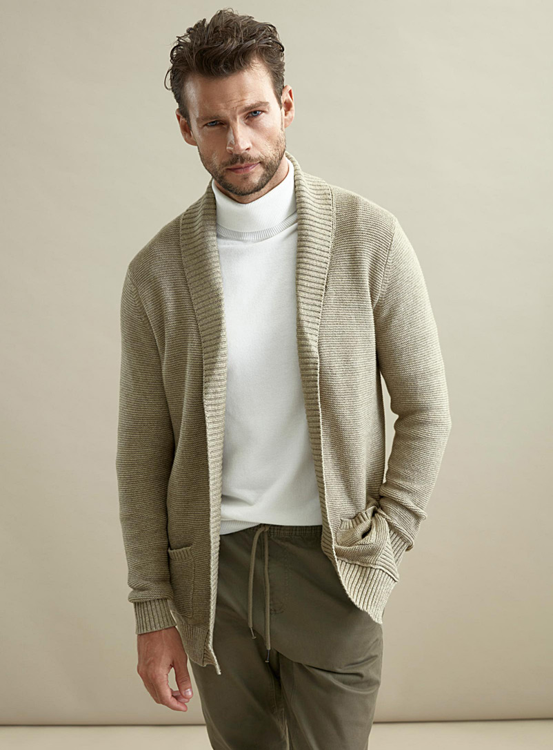 le-cardigan-ouvert-maille-cotelee