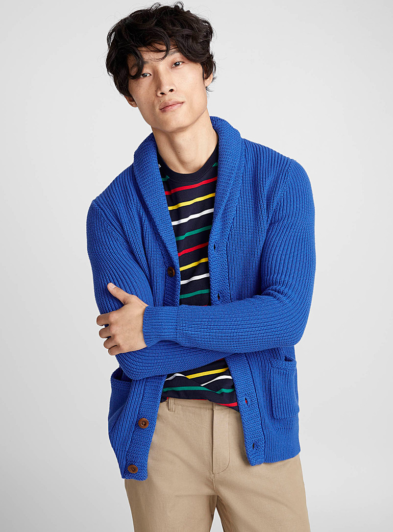 ribbed-shawl-collar-cardigan