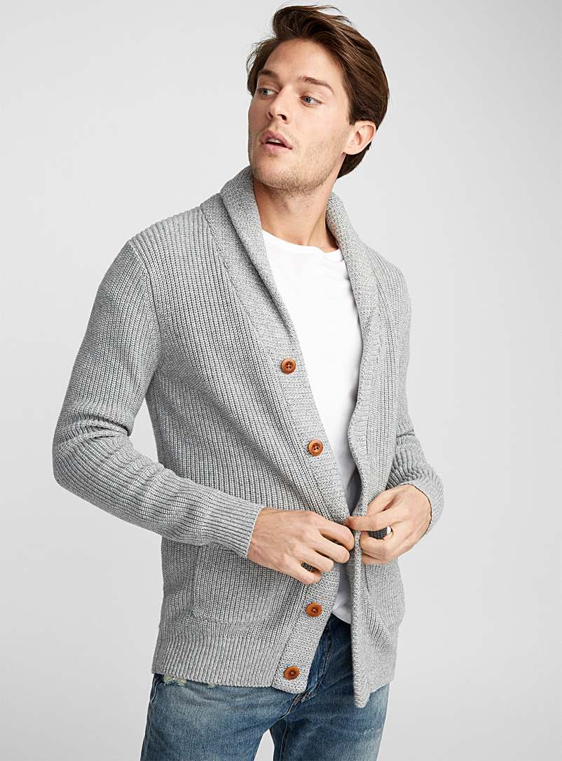 shawl-collar-ribbed-cardigan