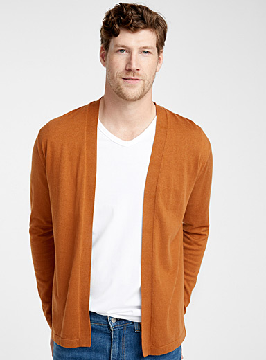 Modal and cotton open cardigan