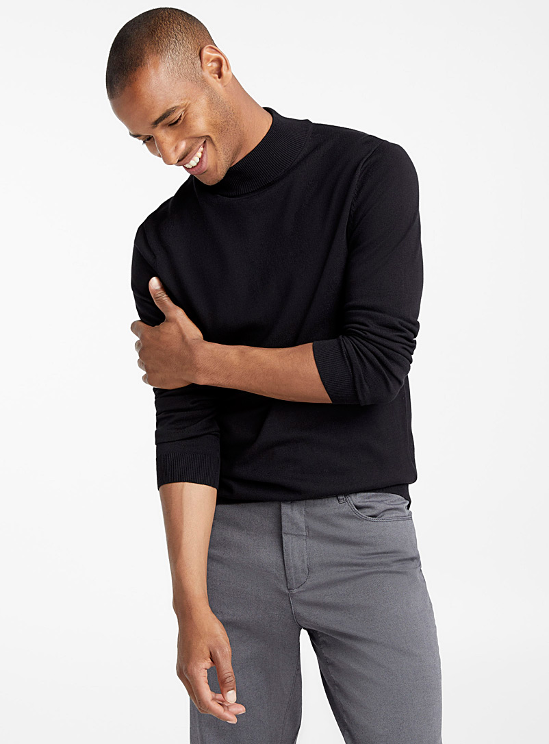 Mock-neck sweater - Turtlenecks & Mock necks - Black