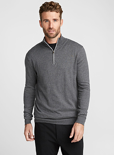 Le pull col montant 2 tons