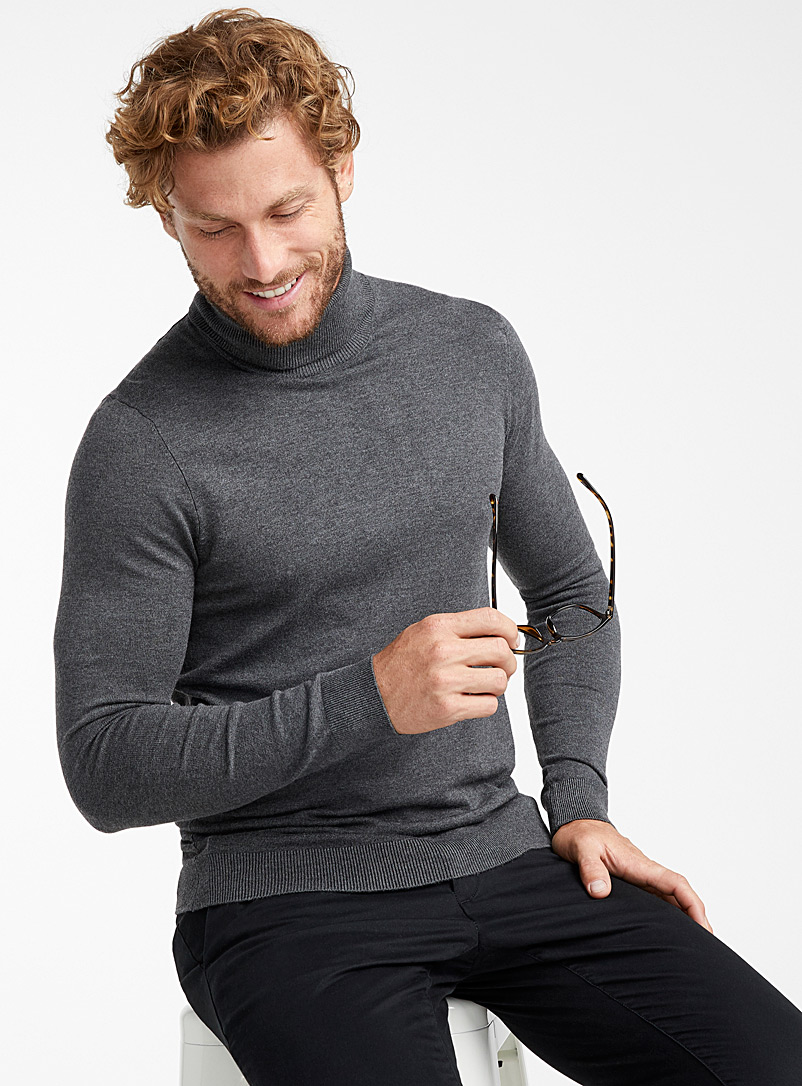 Turtleneck sweater - Turtlenecks & Mock necks - Charcoal