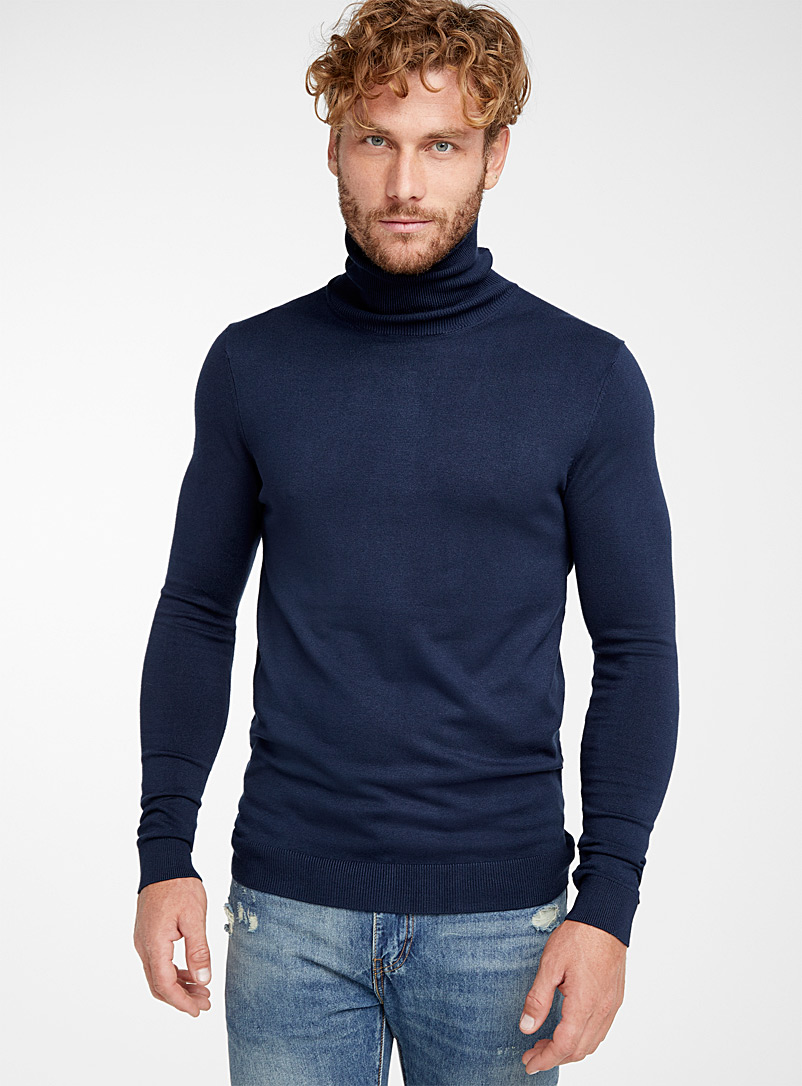 Le 31 Charcoal Turtleneck sweater for men