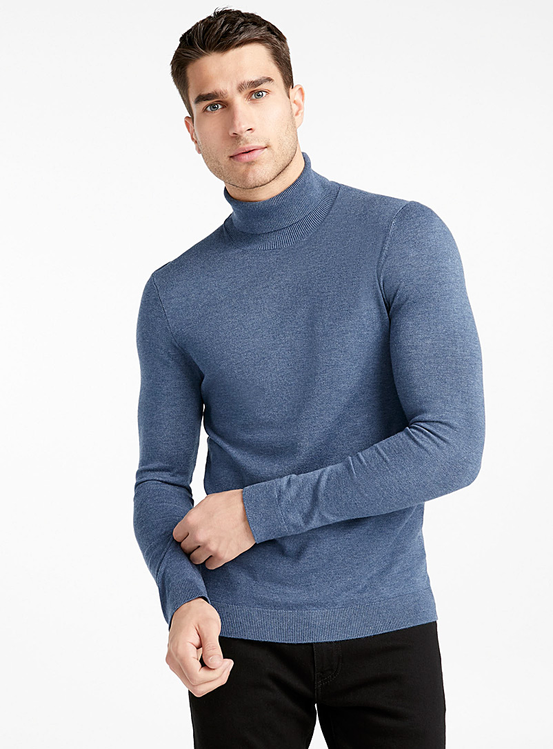 Turtleneck sweater - Turtlenecks & Mock necks - Slate Blue