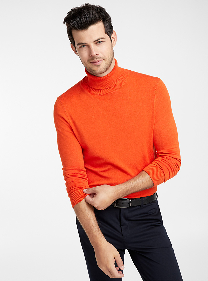 Turtleneck sweater - Turtlenecks & Mock necks - Medium Orange