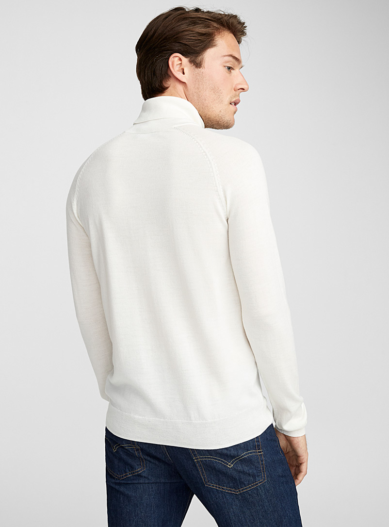 Merino wool turtleneck - Merino Wool - Cream Beige