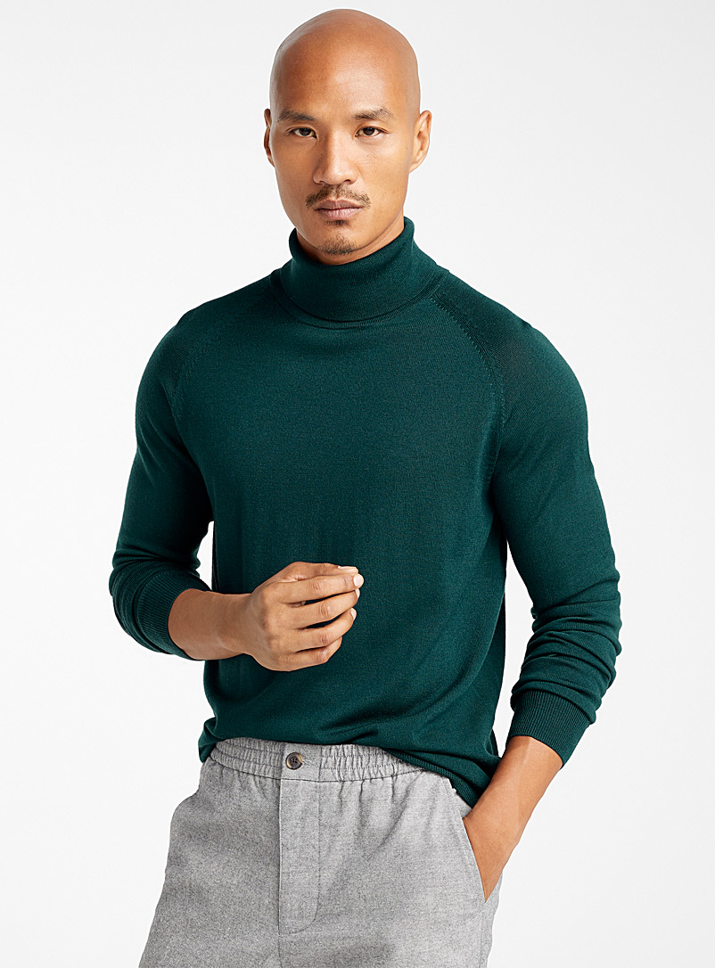 Merino wool turtleneck - Merino Wool - Mossy Green