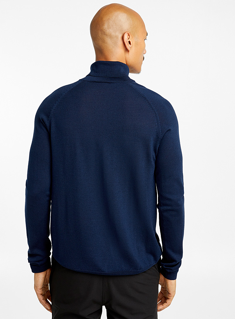 Merino wool turtleneck - Merino Wool - Marine Blue