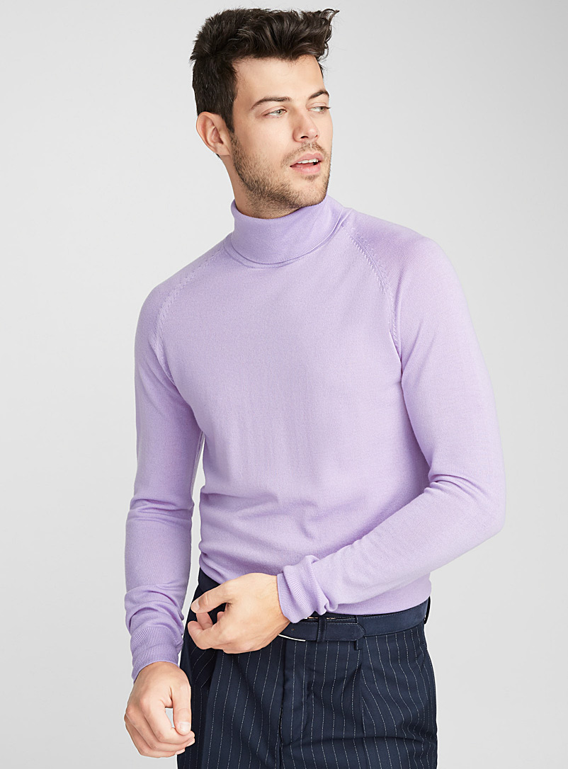 Merino wool turtleneck - Merino Wool - Lilacs