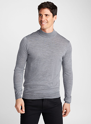 Merino wool high neck