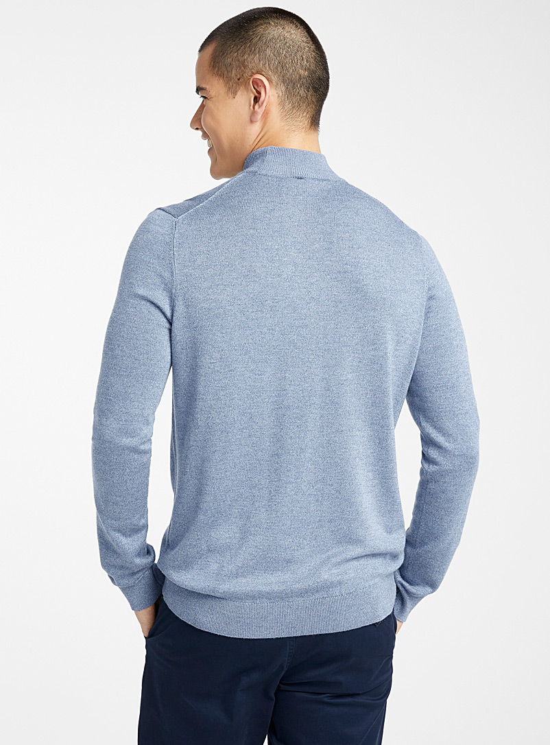Le 31 Marine Blue Bamboo rayon high neck for men