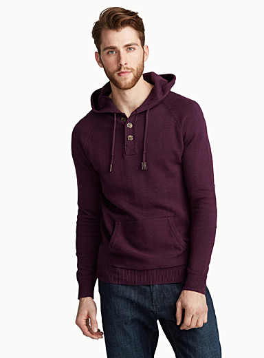 Buttoned collar hoodie
