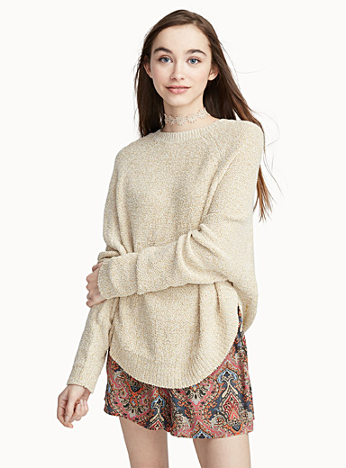 Accent button sweater