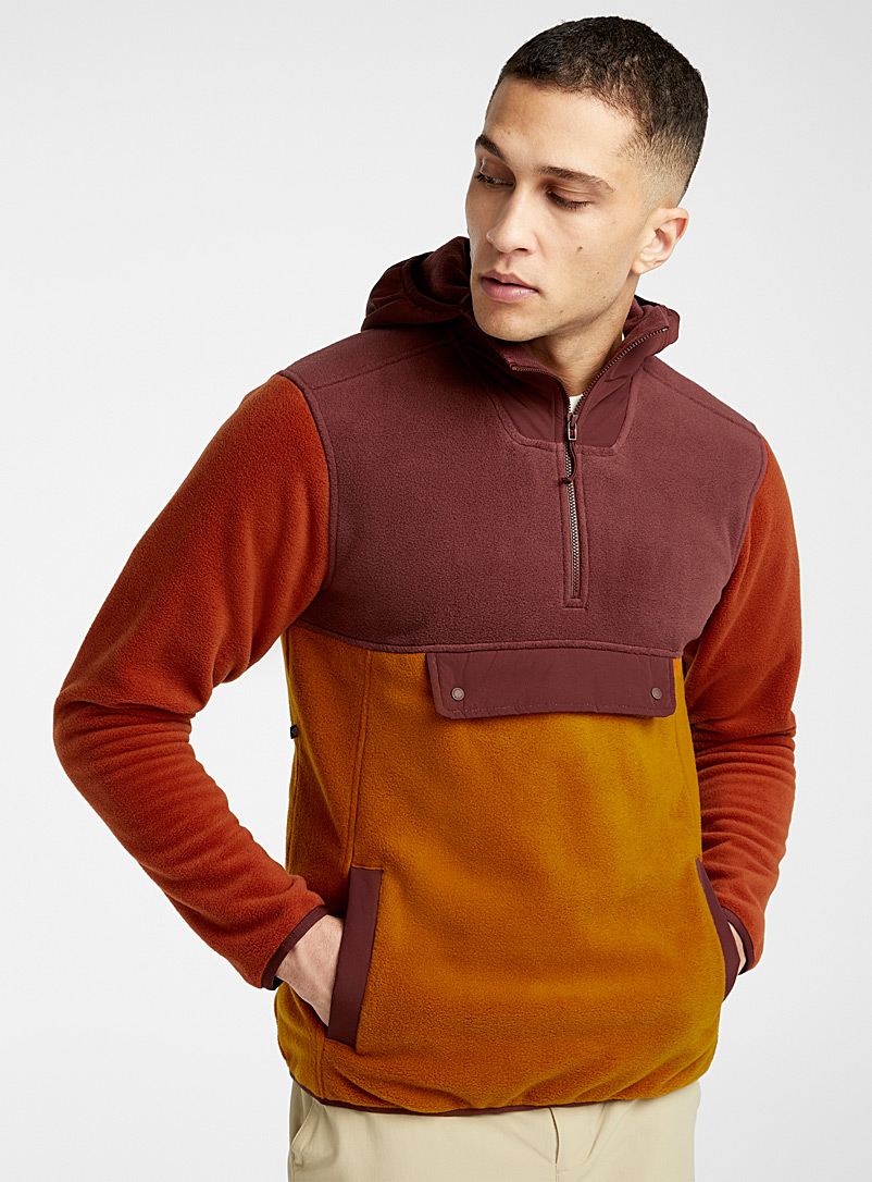 Mountain Hardwear Patterned Brown UnClassic hooded cotton fleece sweatshirt for men